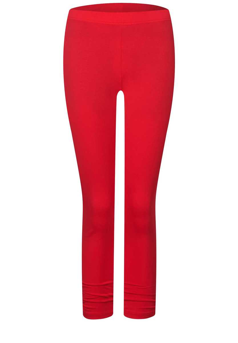 7/8 leggings with gathers - vivid red - Street One - GOOFASH