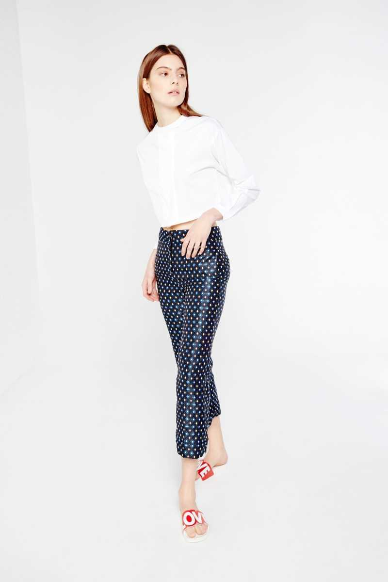 AME Collarless Cropped Shirt  - White - Own The Look - GOOFASH