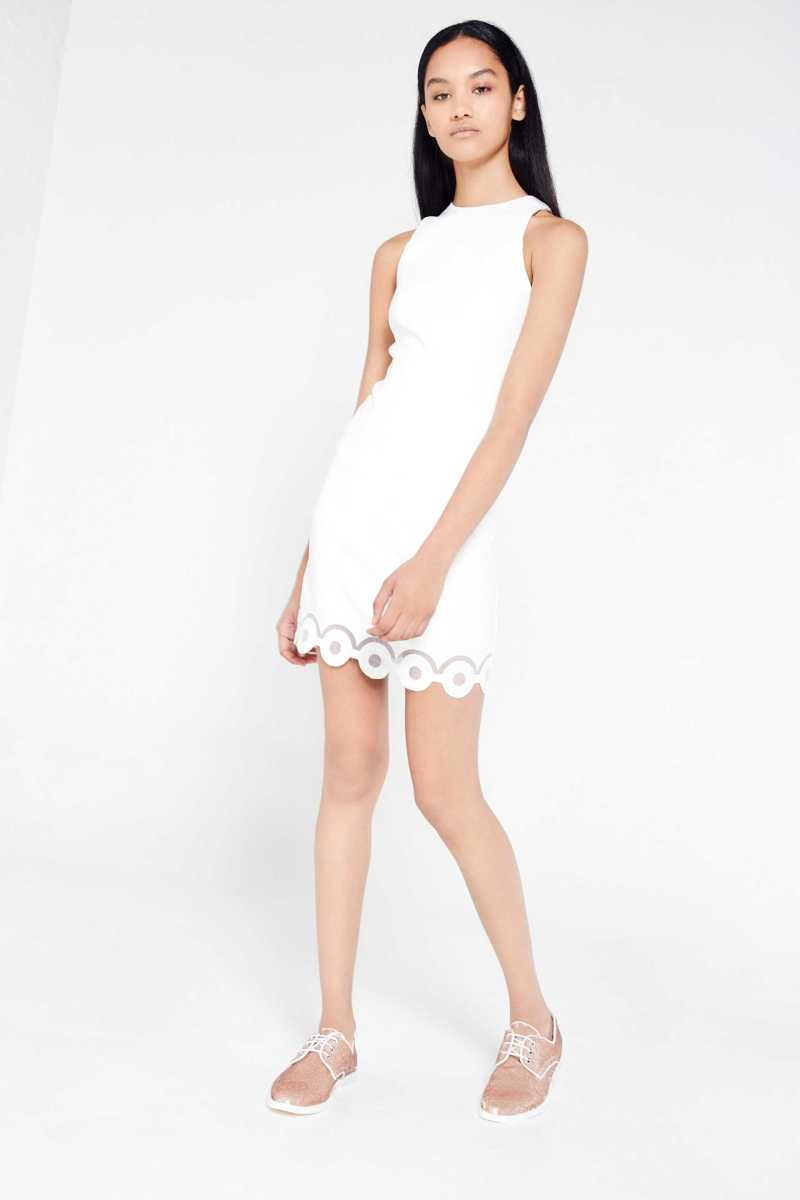 AME Mini Dress With Scallop Hem - Own The Look - GOOFASH