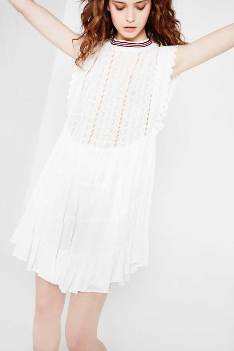 AMT Contrast Mini Dress with Rib Detail - Own The Look - GOOFASH