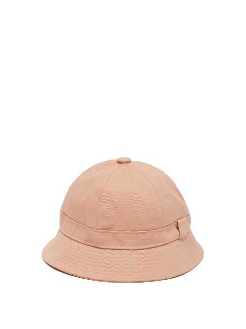 Acne Studios - Blå Konst Alvy Cotton Twill Bucket Hat - Pink Pink - Matches Fashion - GOOFASH
