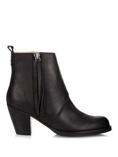 Acne Studios - Leather Boots - Black Black - Matches Fashion - GOOFASH