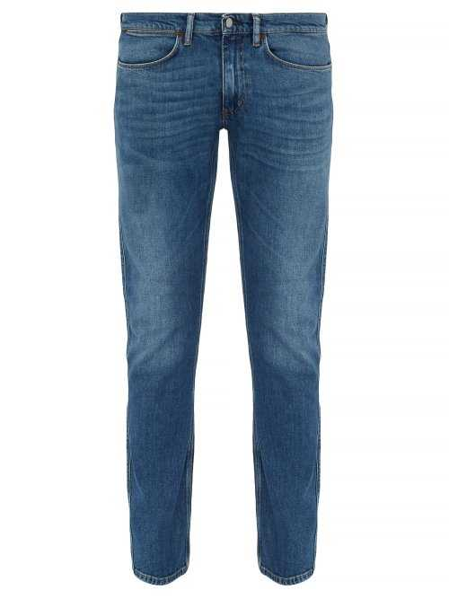 Acne Studios - Max Washed Slim Fit Jeans - Blue Blue - Matches Fashion - GOOFASH