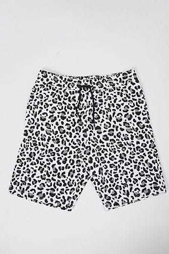 Active Leopard Print Shorts at Forever 21  White/grey - GOOFASH