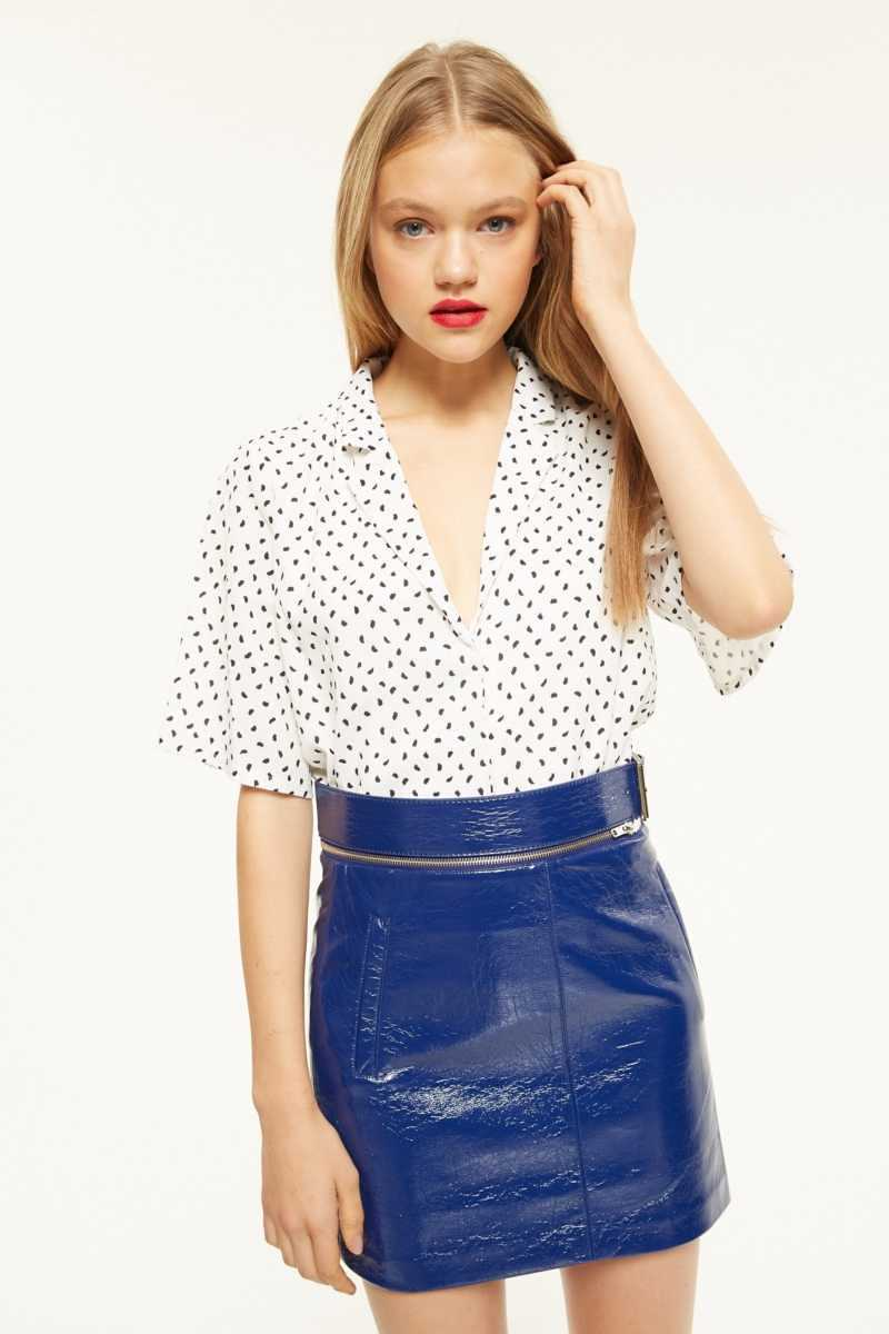 Aeryne Printed Top With Wide Sleeves  - White - Own The Look - GOOFASH