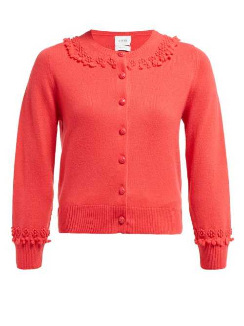 Barrie - Timeless Romantic Cashmere Cardigan - Pink Pink - Matches Fashion - GOOFASH