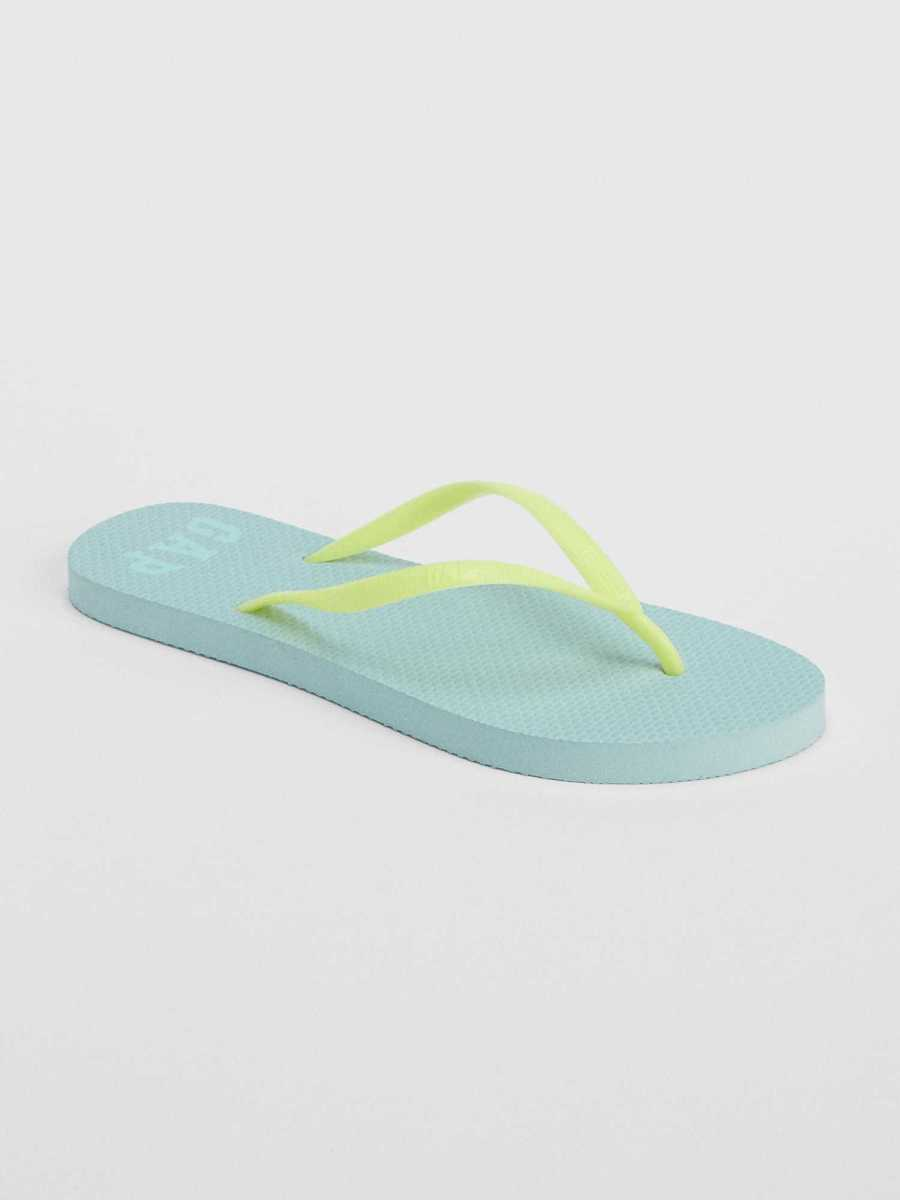 Basic Flip Flops Cool Blue - Gap - GOOFASH