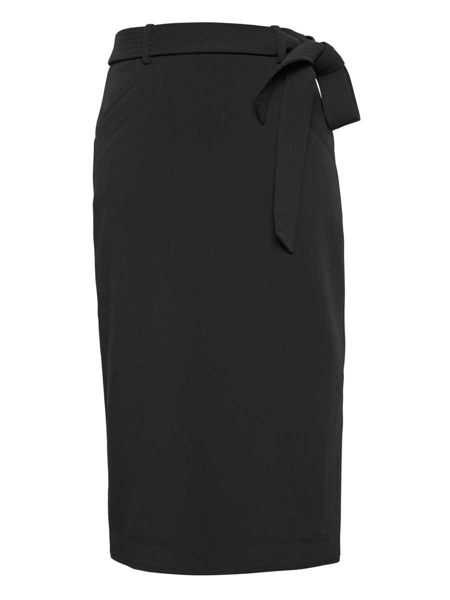 Belted Pencil Skirt with Side Slit - Banana Republic - GOOFASH