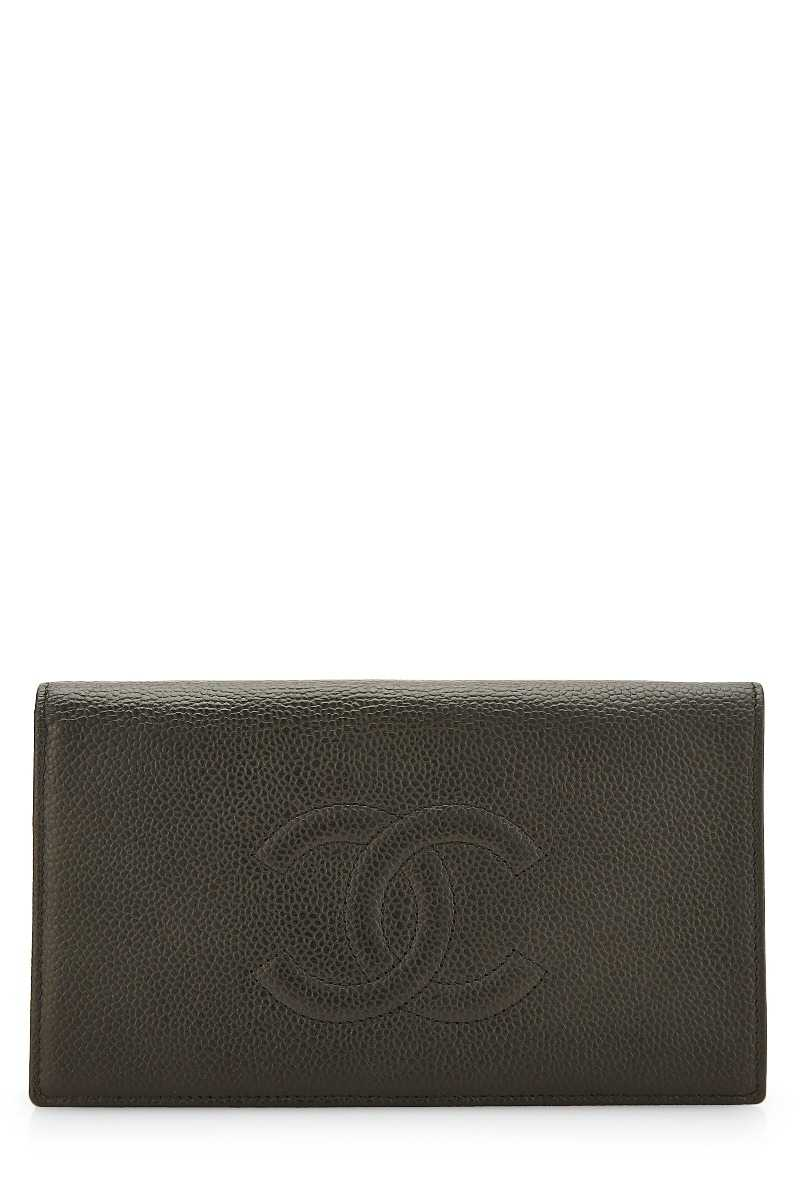 Black Caviar Timeless Continental Wallet - What Goes Around Comes Around - GOOFASH