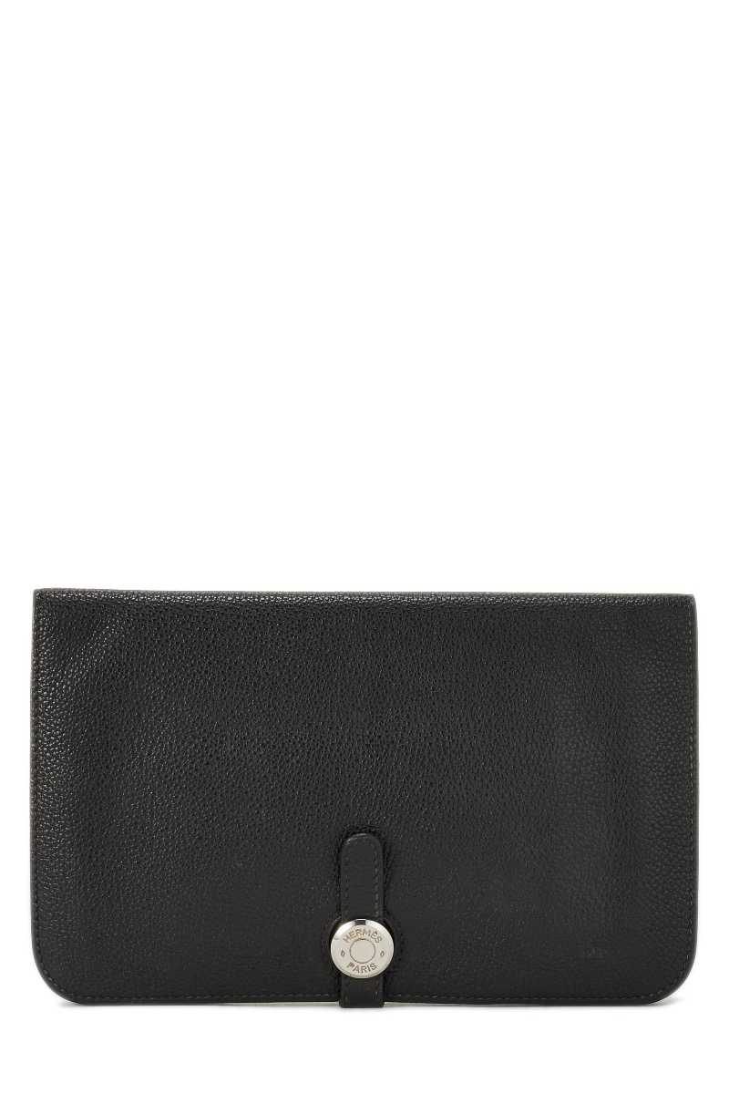 Black Togo Dogon Duo Continental Wallet - What Goes Around Comes Around - GOOFASH