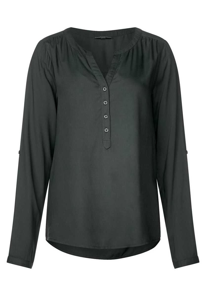 Blouse with button placket - chilled green - Street One - GOOFASH