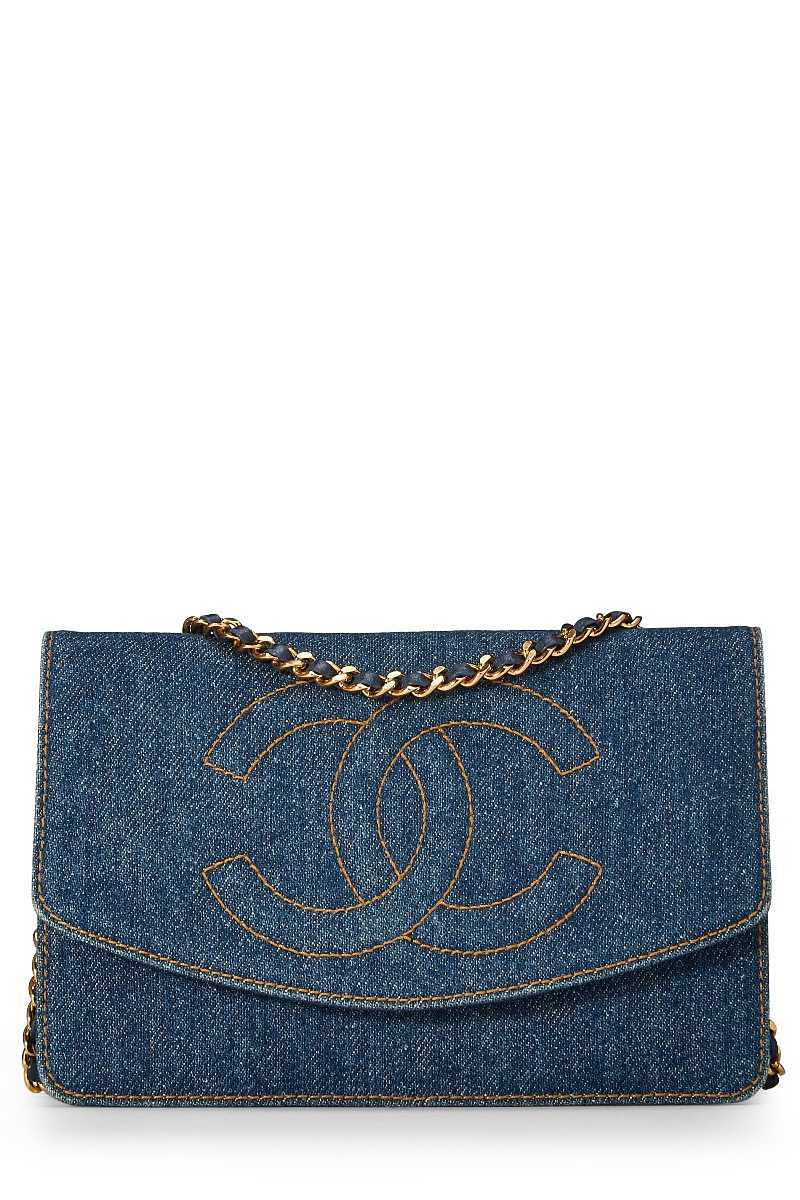 Blue Denim Timeless Classic Wallet on Chain (WOC) - What Goes Around Comes Around - GOOFASH