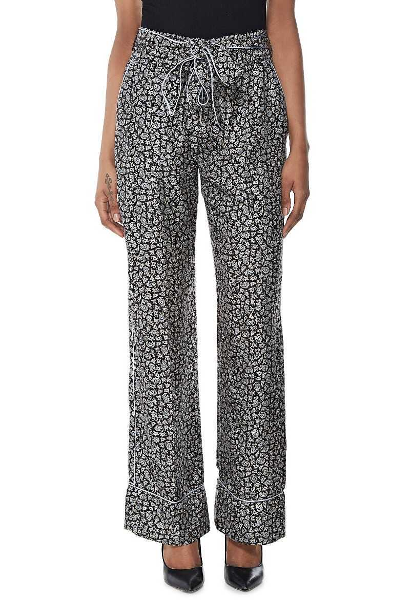 Blue Silk Paisley Pants - What Goes Around Comes Around - GOOFASH