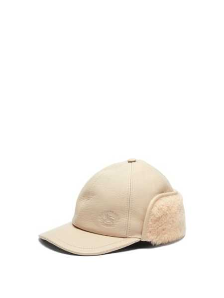 Burberry - Explorer Leather Hat - Cream Cream - Matches Fashion - GOOFASH