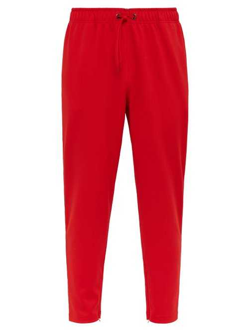 Burberry - Icon Striped Technical Jersey Track Pants - Red Red - Matches Fashion - GOOFASH