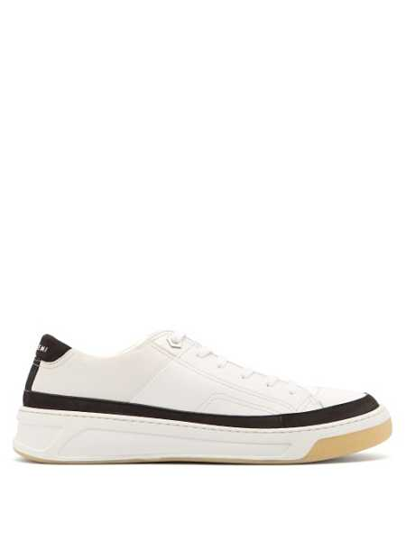 Buscemi - Prodigy Leather Low Top Trainers - White White - Matches Fashion - GOOFASH