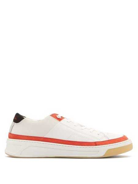 Buscemi - Prodigy Low Top Leather And Suede Trainers - Red Red - Matches Fashion - GOOFASH