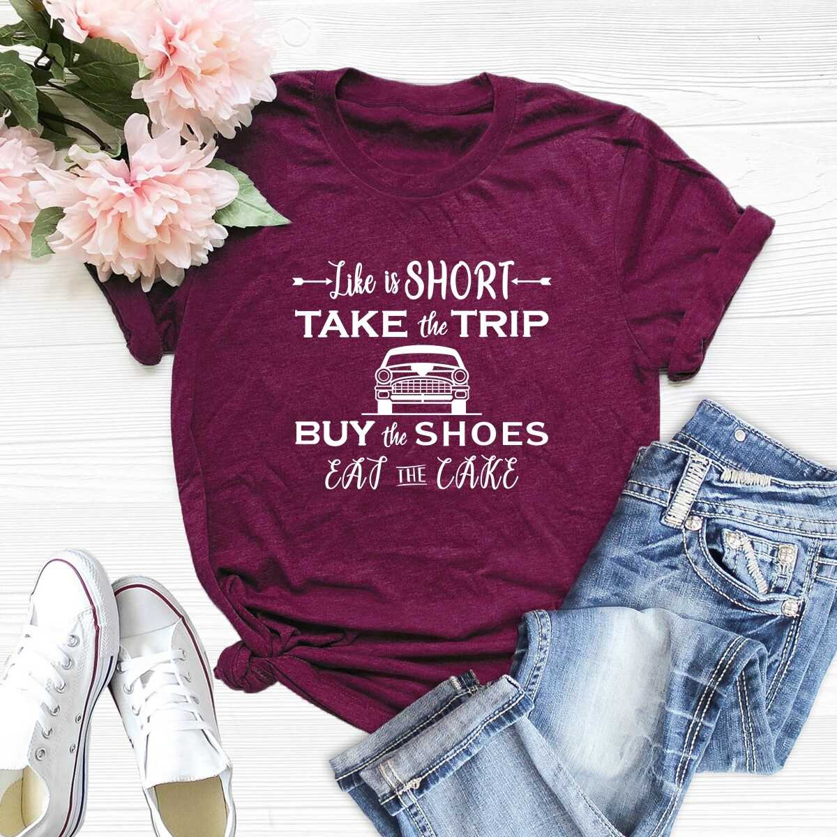 Car And Letter Print Tee - Shein - GOOFASH