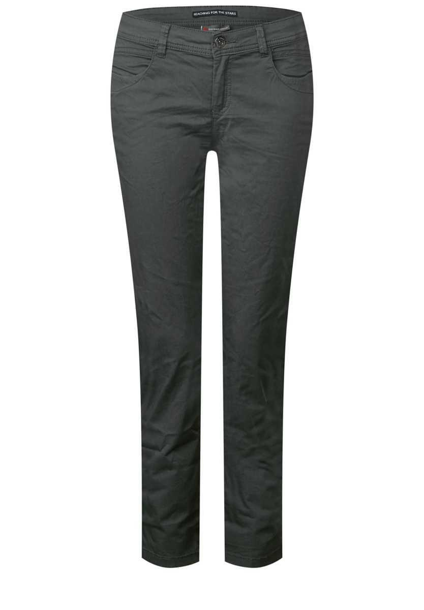 Casual Fit Chinos Crissi - chilled green - Street One - GOOFASH