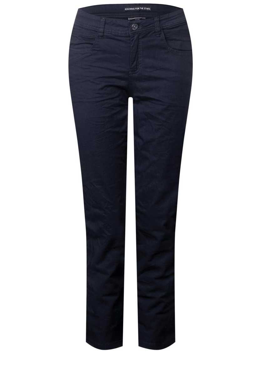 Casual Fit Chinos Crissi - deep blue - Street One - GOOFASH