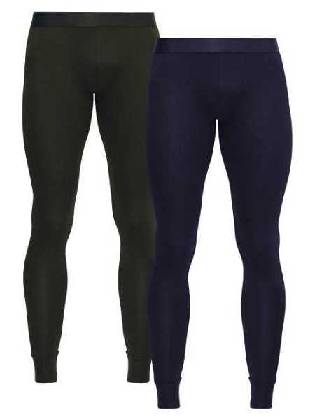 Cdlp - Pack Of Two Stretch Jersey Thermal Leggings - Green Green - Matches Fashion - GOOFASH