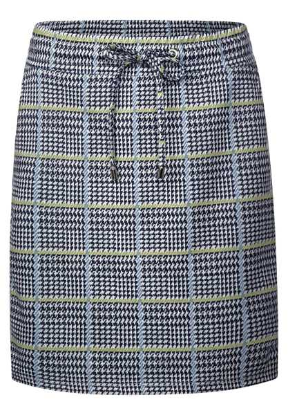 Checked style skirt - deep blue - Street One - GOOFASH