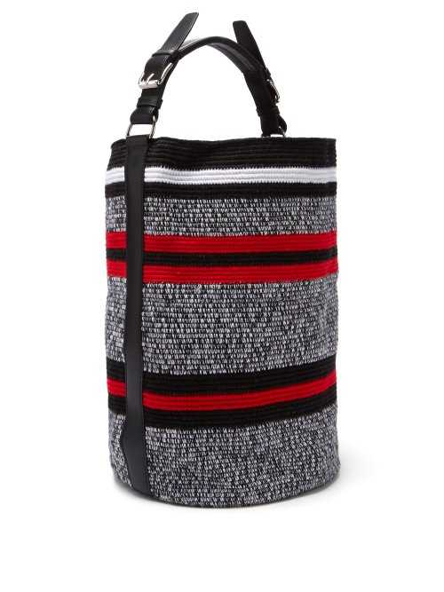 Colville - Striped Woven Bucket Bag - Red Red - Matches Fashion - GOOFASH