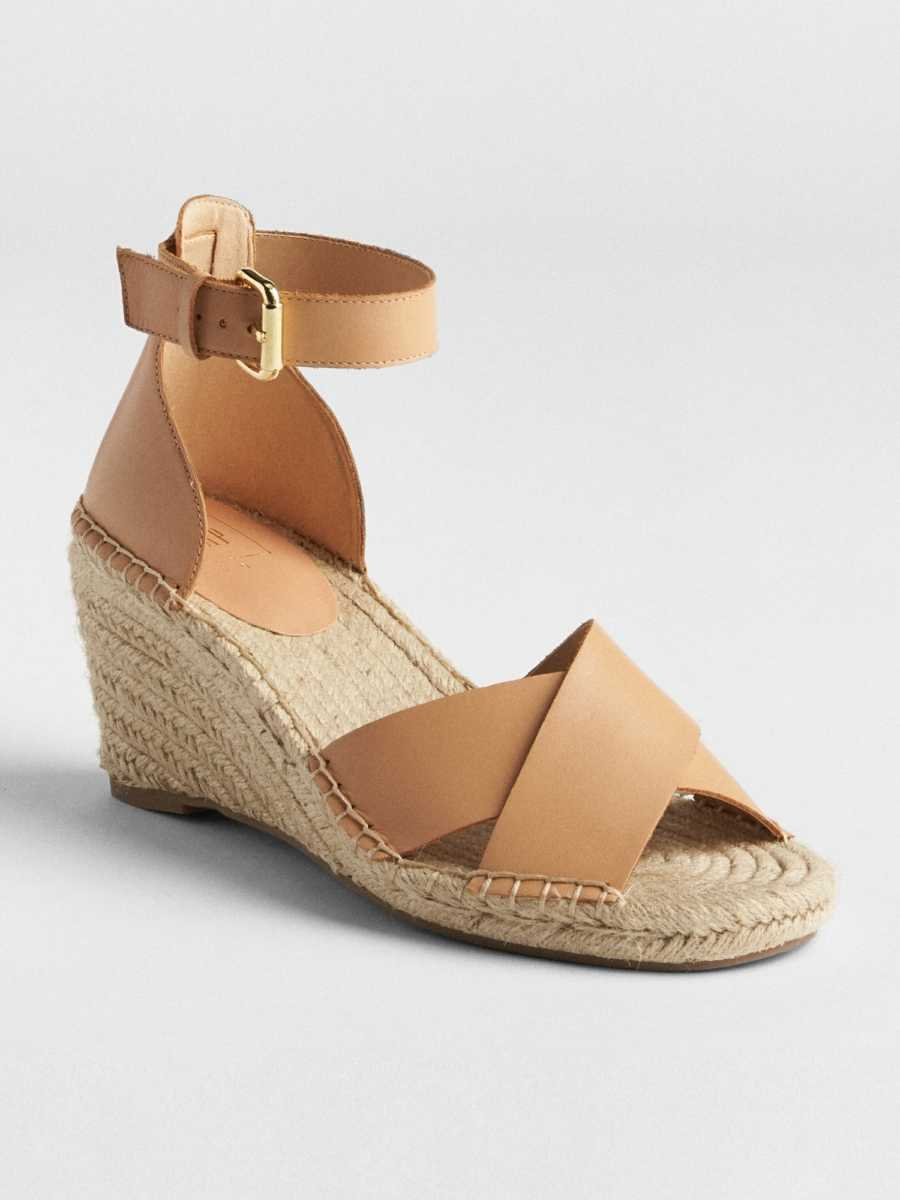 Crossover Strap Espadrille Wedges Buff - Gap - GOOFASH