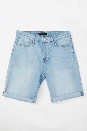 Cuffed Denim Shorts at Forever 21 Light Denim - GOOFASH
