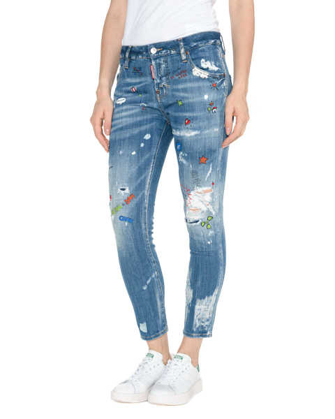 DSQUARED2 Cool Girl Jeans Blue GOOFASH 229268