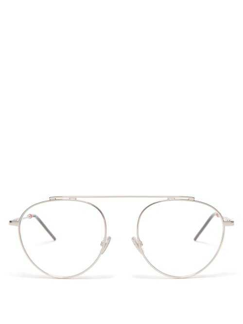 Dior Homme Sunglasses - Round Frame Metal Glasses - Silver Silver - Matches Fashion - GOOFASH
