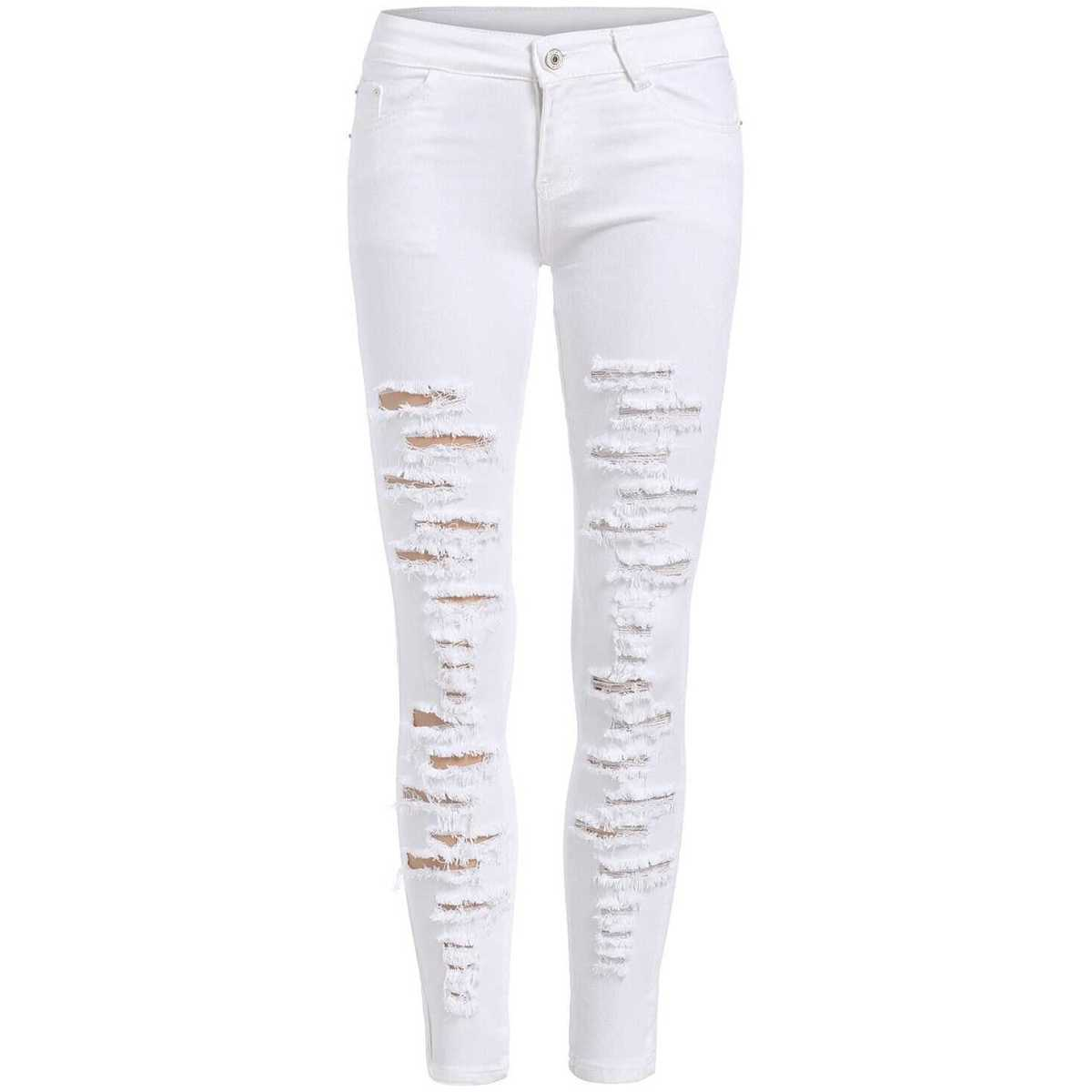 Distressed Ankle Jeans - Shein - GOOFASH