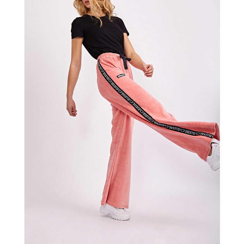 Ellesse Marzolina Oversized Velour Trousers Pink - Foot Locker - GOOFASH