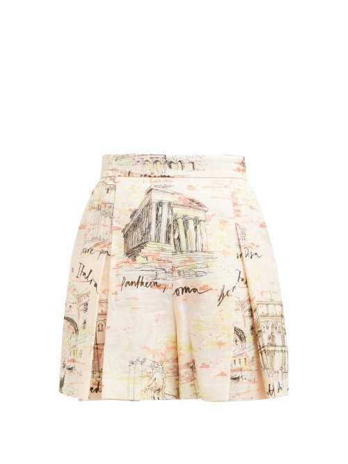 Emilia Wickstead - Leslie Italy Print Shorts - Pink Pink - Matches Fashion - GOOFASH