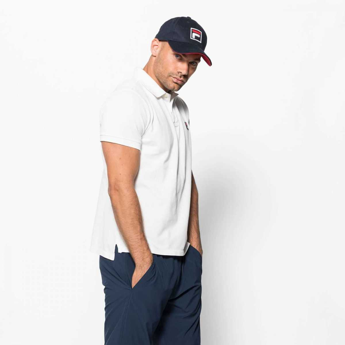 FILA Cotton Polo in White for Men - GOOFASH