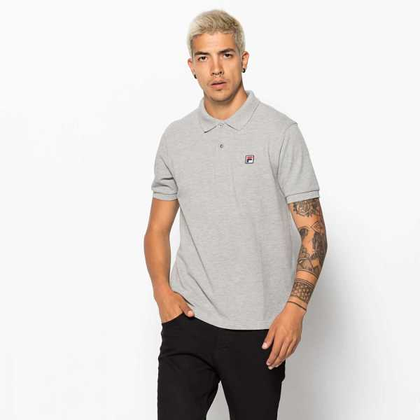 FILA Edgar Polo in Grey for Men - GOOFASH
