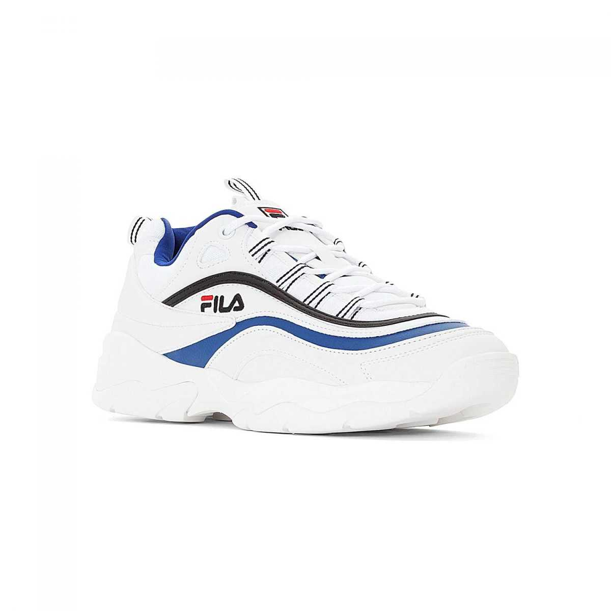 FILA Ray Low Men white electric-blue in Blue for Men - GOOFASH