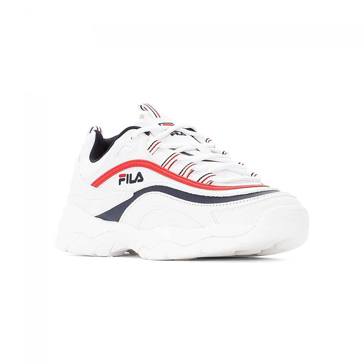 FILA Ray Low Wmn white-navy-red in Blue for Women - GOOFASH