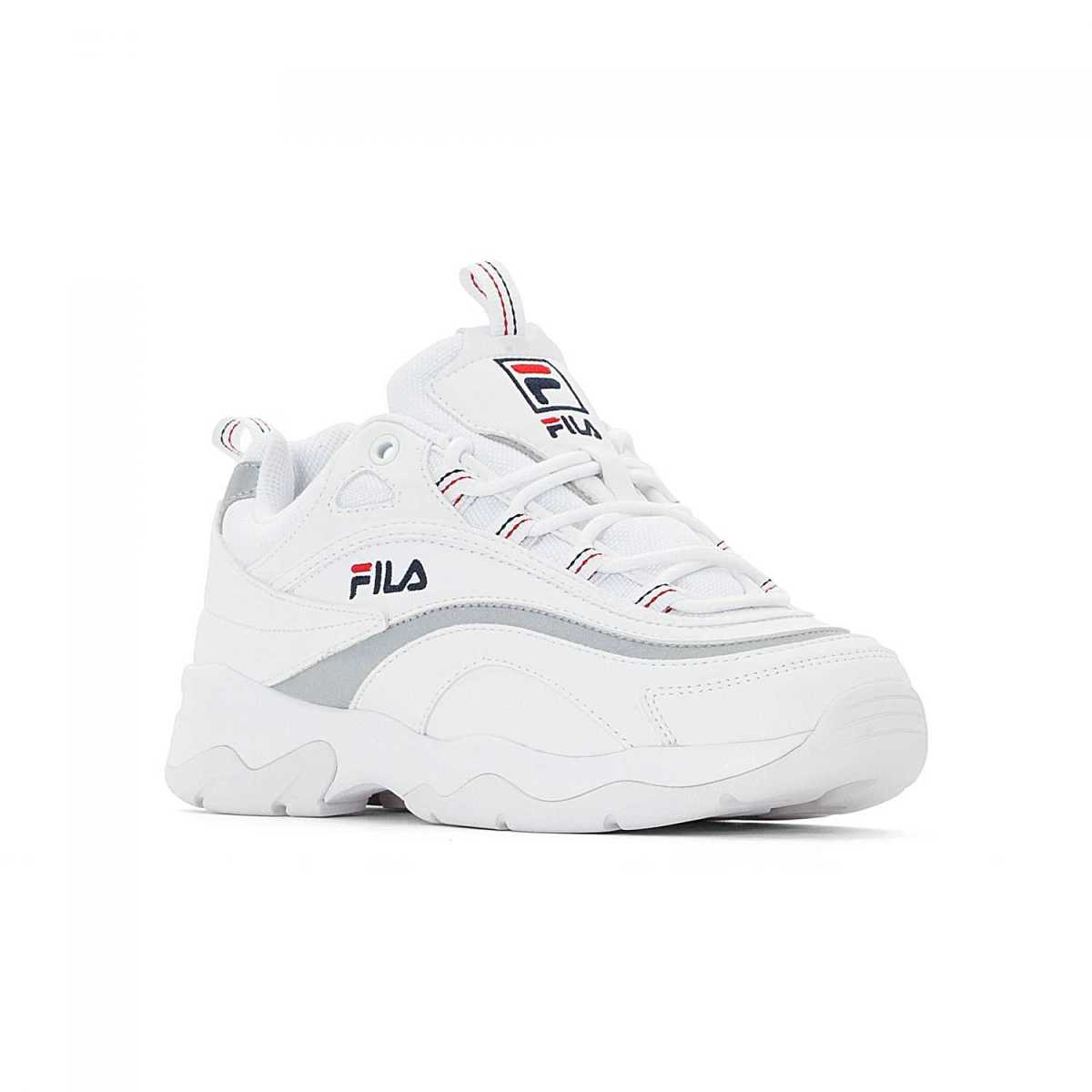 FILA Ray Low Wmn white-silver in Silver for Women - GOOFASH