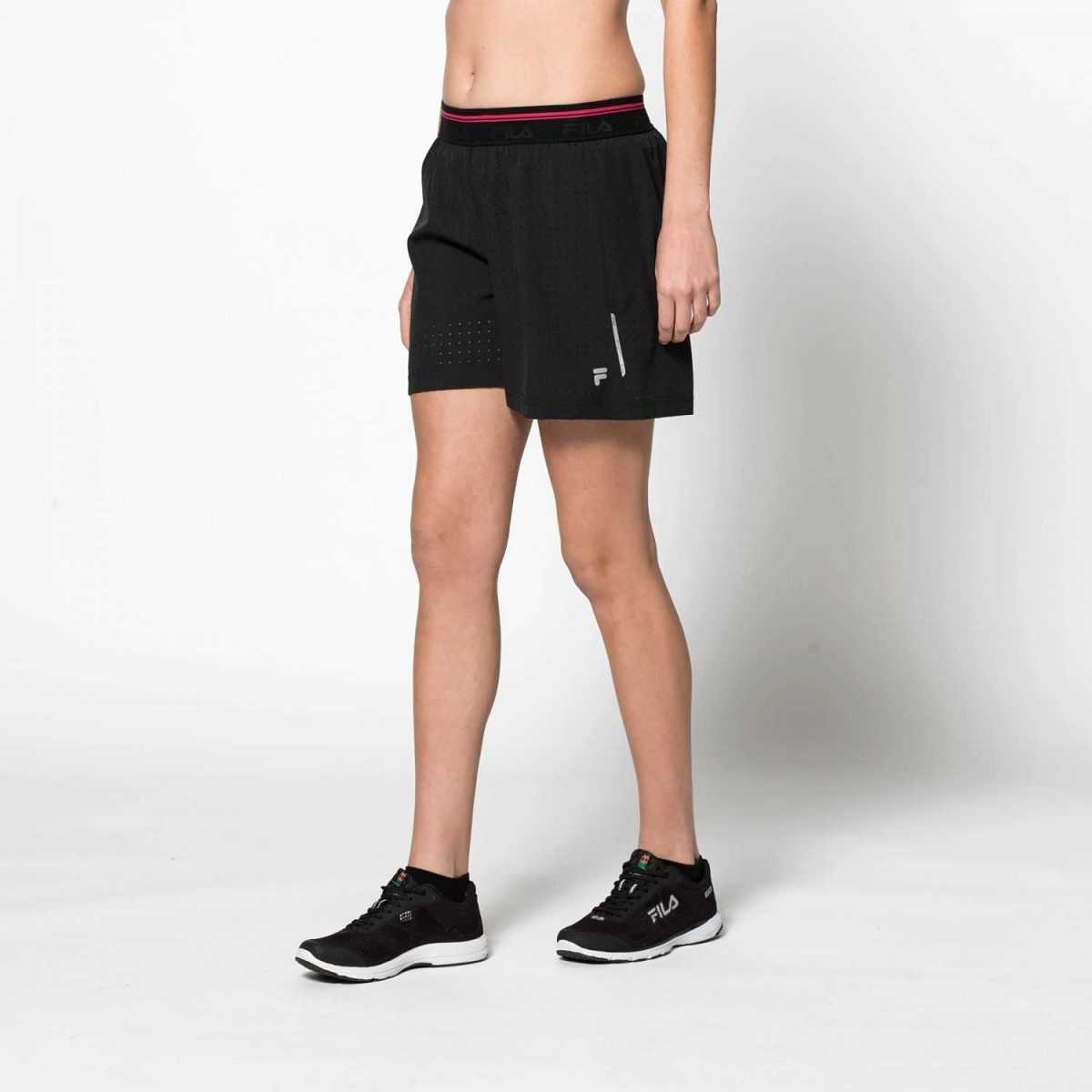 FILA Short With Inside Tight in Black for Women - GOOFASH