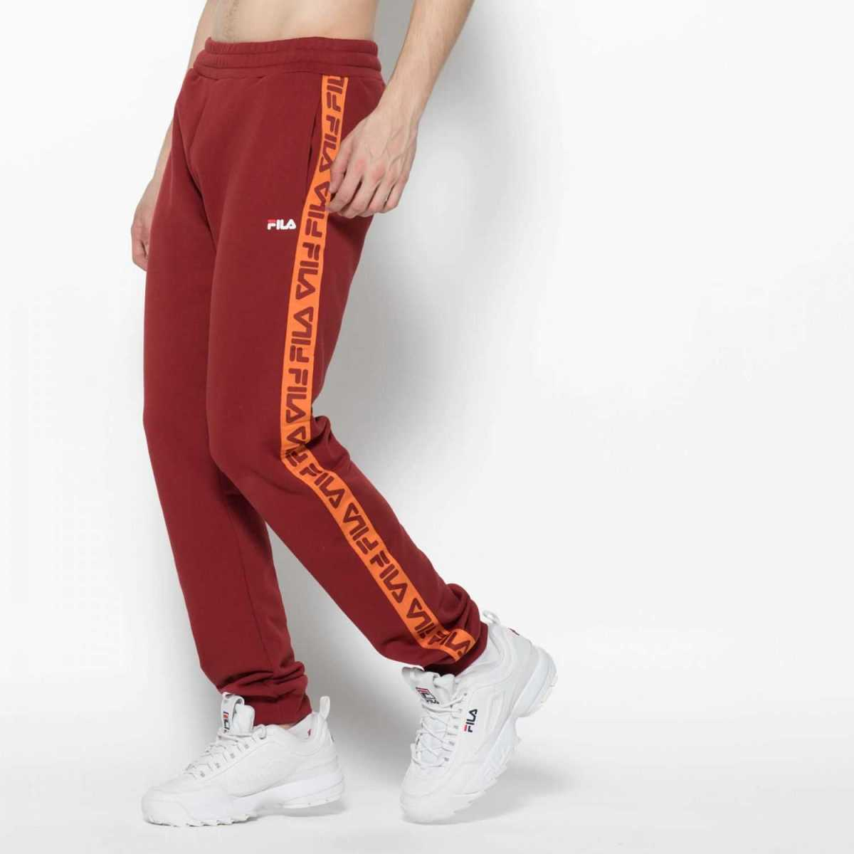 FILA Tadeo Tape Sweat Pant in Red for Men - GOOFASH