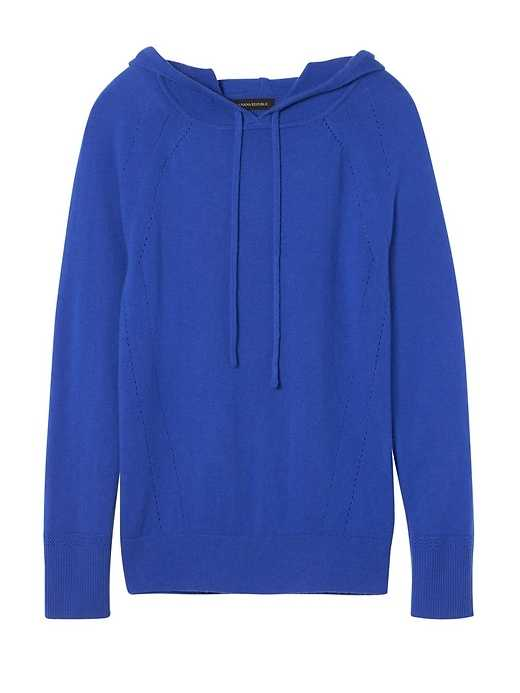 Feather Touch Hoodie - Banana Republic - GOOFASH