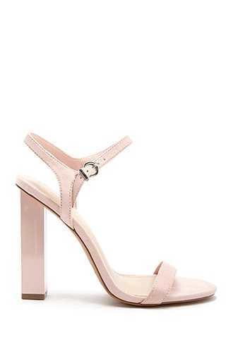 Forever 21 Cube High Heels  Pink GOOFASH 2000328843030