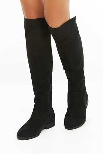 Forever 21 L4L by Lust for Life Elasticized Lace-Up Boots  Black GOOFASH 2000298255014