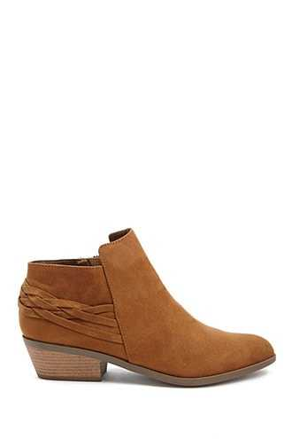 Forever 21 Qupid Faux Suede Ankle Boots  Brown GOOFASH 2000311196022