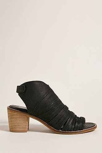 Forever 21 Sbicca Leather Ankle Boots  Black GOOFASH 2000262456019