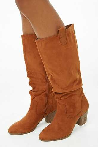 aab290043b6 Forever 21 Slouchy Faux Suede Tall Boots Tan GOOFASH 2000302641050