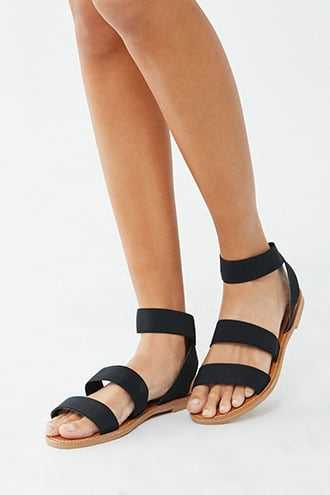 Forever 21 Strappy Open Toe Sandals  Black - GOOFASH