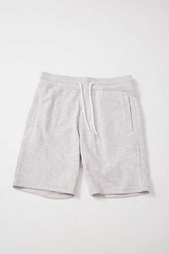 French Terry Drawstring Shorts at Forever 21 Heather Grey - GOOFASH