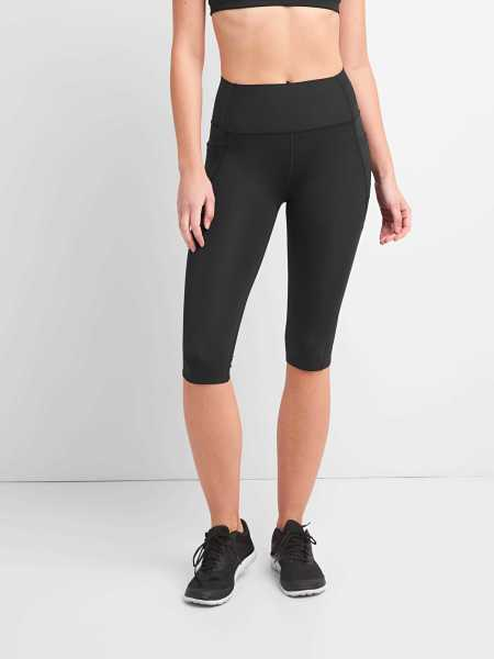 GFast High Rise Crop Leggings in Sculpt Revolution Black - Gap - GOOFASH